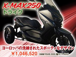 X-MAX250トライク(3輪)